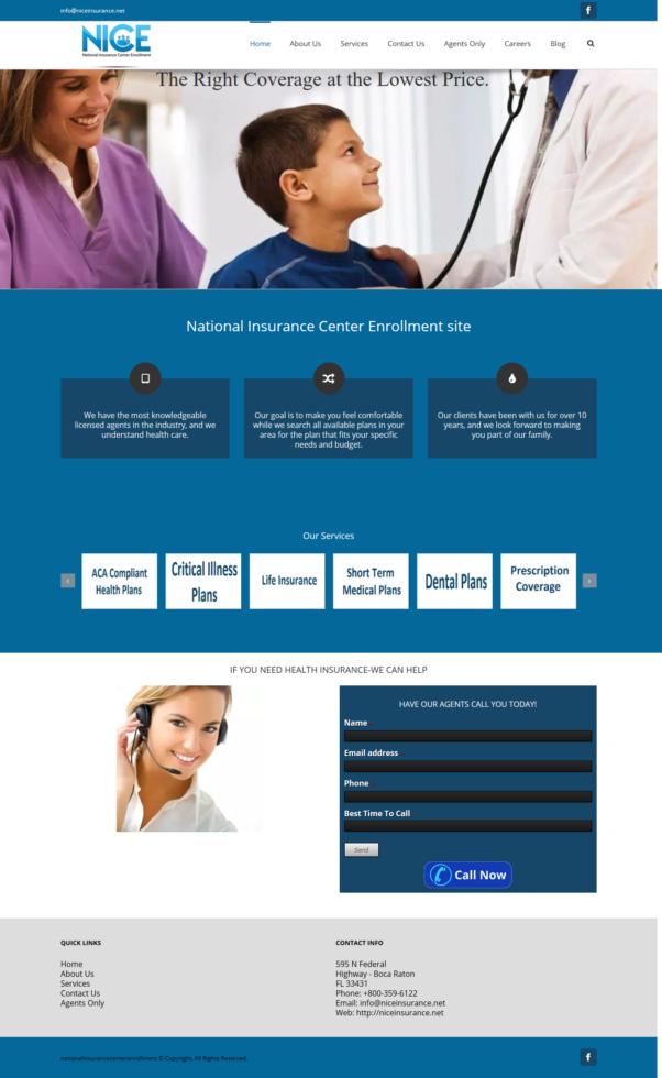 National Insurance Center Enrollment
